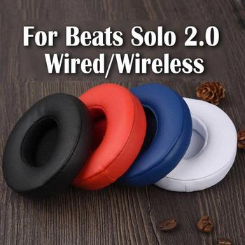 1pair Replacement Ear Pads Cushion For Beats Solo 2 Solo 3 Wireless Earpads Wired Earbuds Headset Soft Case Earphone Accessorie beats solo 2 black