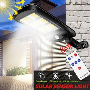 Solar Light Street LED Floodlight Powered Sunlight Waterproof PIR Motion Sensor COB for Garden Decoration Outdoor Indoor 300W