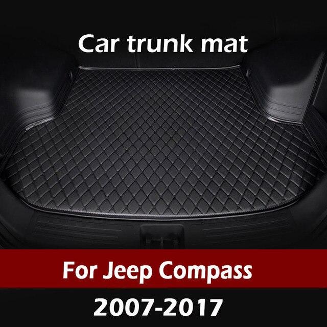 MIDOON kofferraum matte für Jeep Kompass 2007 2008 2009 2010 2011 2012 2013 2014 2017 cargo liner teppich innen zubehör abdeckung