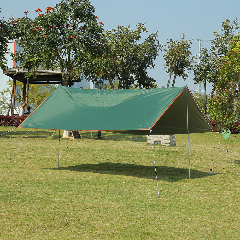 Waterproof Camping Tent Tarp Awning Sun Shade Rain Shelter Mat Canopy Outdoor