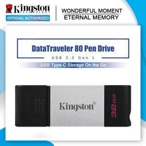 Kingston New USB Flash Drive DT80 32gb Pendrive usb 3.2 Gen 1 64GB U Disk Pen Drive usb 3.0 128gb Memory Stick Flash Memoria USB