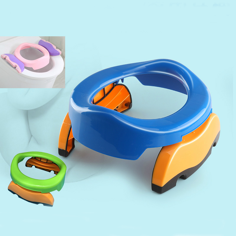 Portable Baby Travel Potty Pots Boy Girl Foldaway Toilet Basin Potty Car Baby Folding Poatty Kids Outdoor Training Toilet Seat