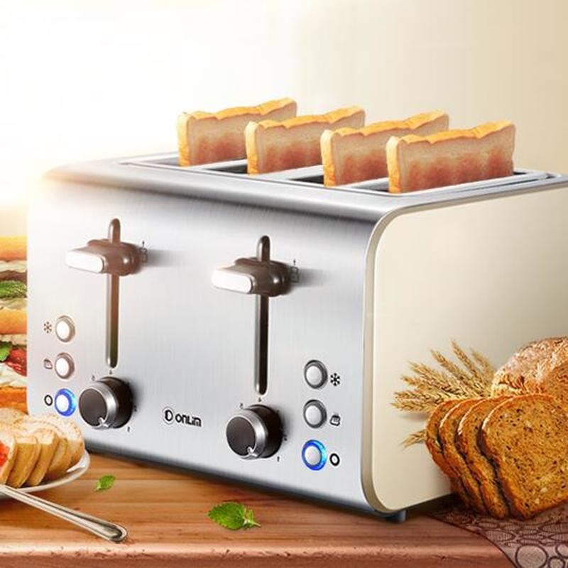 Bake Toast DL-8590A Toaster Breakfast Machine Stainless Steel Home Appliances Dual-use 4 Pieces 1