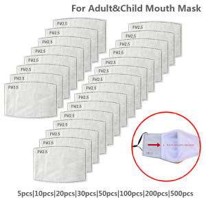 FILTER-MASK Mascarilla Disposable PM2.5 5-Layers Protective Anti-Dust for Adult Kid
