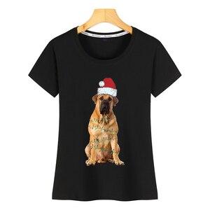 Топы, футболки для женщин, Рождественский свитер с изображением собаки, толстовка с капюшоном, белая хлопковая женская рубашка