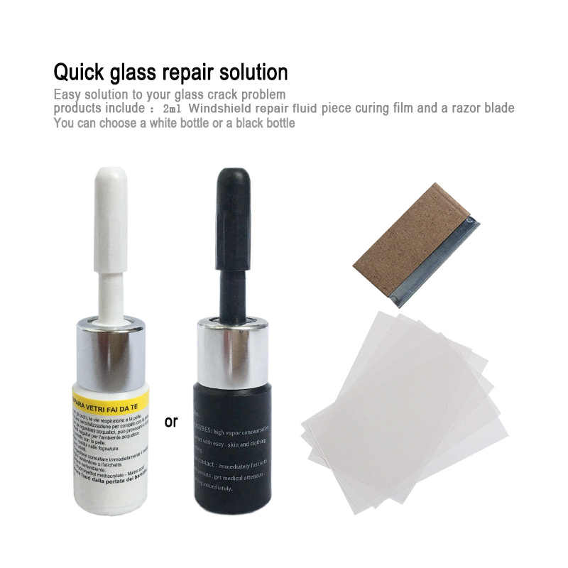 زجاج سيارة أداة إصلاح Window بها بنفسك نافذة أدوات إصلاح الزجاج الأمامي خدش الكراك استعادة نافذة الشاشة الراتنج شفرة شرائط