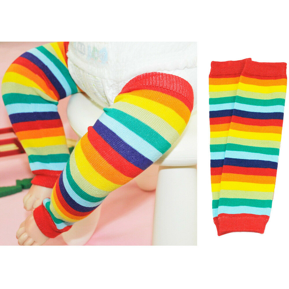 Baby Toddler Child Colorful Rainbow Color Stripe Socks Tights Arm Leg Warmers WATXW0028