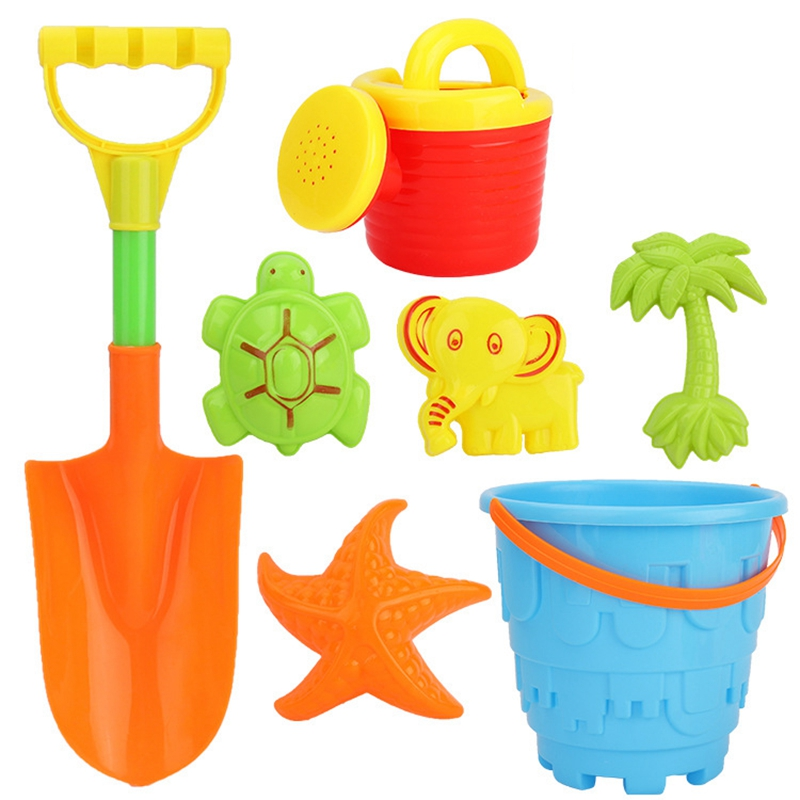 Summer Soft Baby Beach Toys Kids Bath Play Sandbox Set Beach Party Watering Can Bucket Sand Molds Toys Water Game