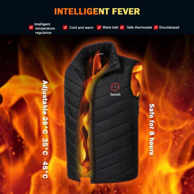 Jacket Heated-Vest Waistcoat Winter Women USB Outdoor Cycling Electric