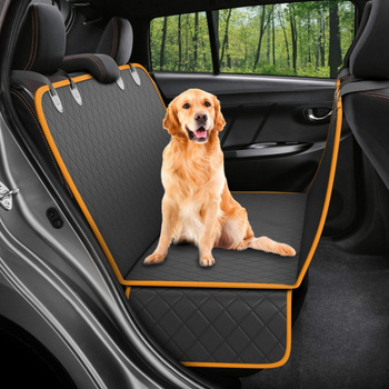 Pet Seat Protectors for Trucks SUVs Waterproof Nonslip Bench Rear Seat Covers Pet Bed Mats for Cars Dog Car Hammock Style
