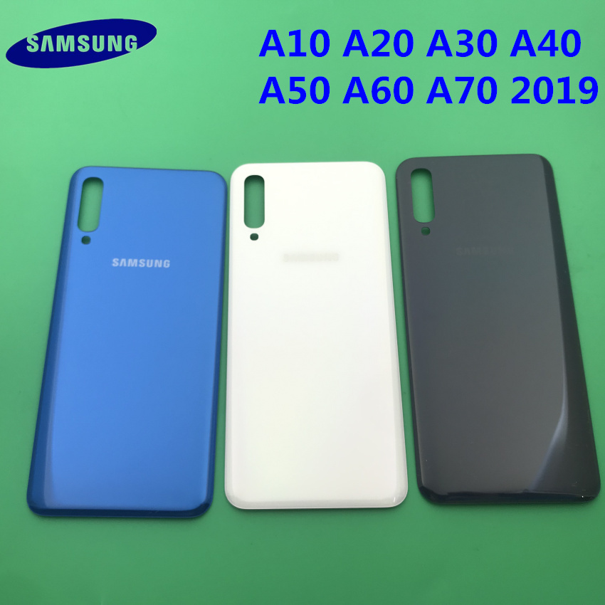 For Samsung Galaxy A10 A20 A30 A40 A50 A60 A70 2019 Original Back Battery Cover Rear Door Housing Glass Panel Replacement Part