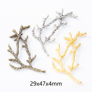 цена 10pcs Metal Tree Branch Charms Pendants for DIY Necklaces Bracelets Brooches Jewelry Findings Craft Jewelry Making Wholesale онлайн в 2017 году