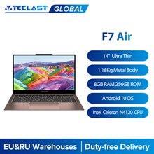 Ультратонкий ноутбук Teclast F7 Air, 14 дюймов, Intel N4120 8 Гб LPDDR4 256 Гб SSD, ноутбук 1920x1080 FHD, Windows 10, компьютер, вращающийся на 180 градусов ПК