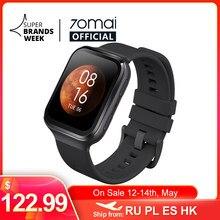 70mai Smart Uhr 70mai Saphir Uhr Bluetooth GPS Sport Heart Rate Monitor 5ATM Widerstand Anruf Erinnerung 70mai Smartwatch APP