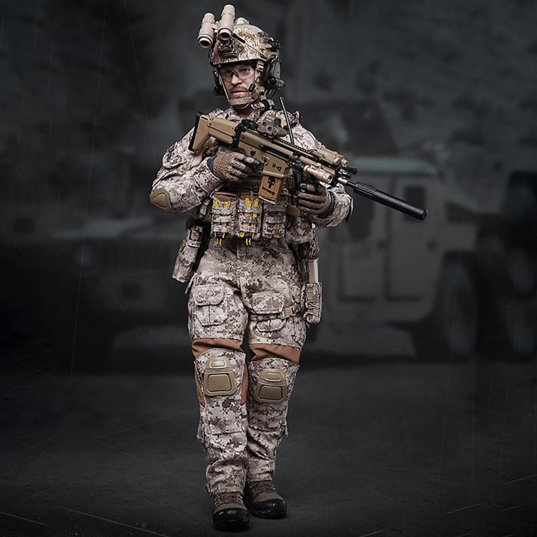 1/6 30cm soldat modèle réaliste Headsculpt bricolage mobile armée américaine marine sceaux militaire Figure modèle jouet pour enfants adultes