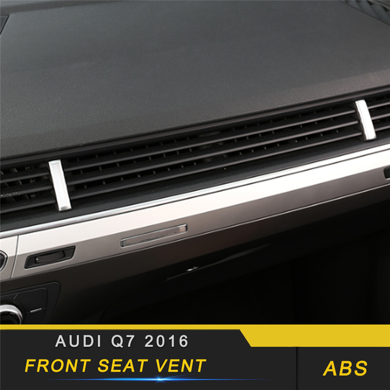 For Audi Q7 4M 2016 2017 2018 Car Styling Central A/C Air Outlet Vent Cover Trim Frame Sticker Interior Accessories