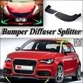 Разветвитель диффузор бампер Canard губ для Audi A1 2010 ~ 2016 тюнинг кузова комплект Автомобильный передний дефлектор щиток Fin подбородок спойлер де...