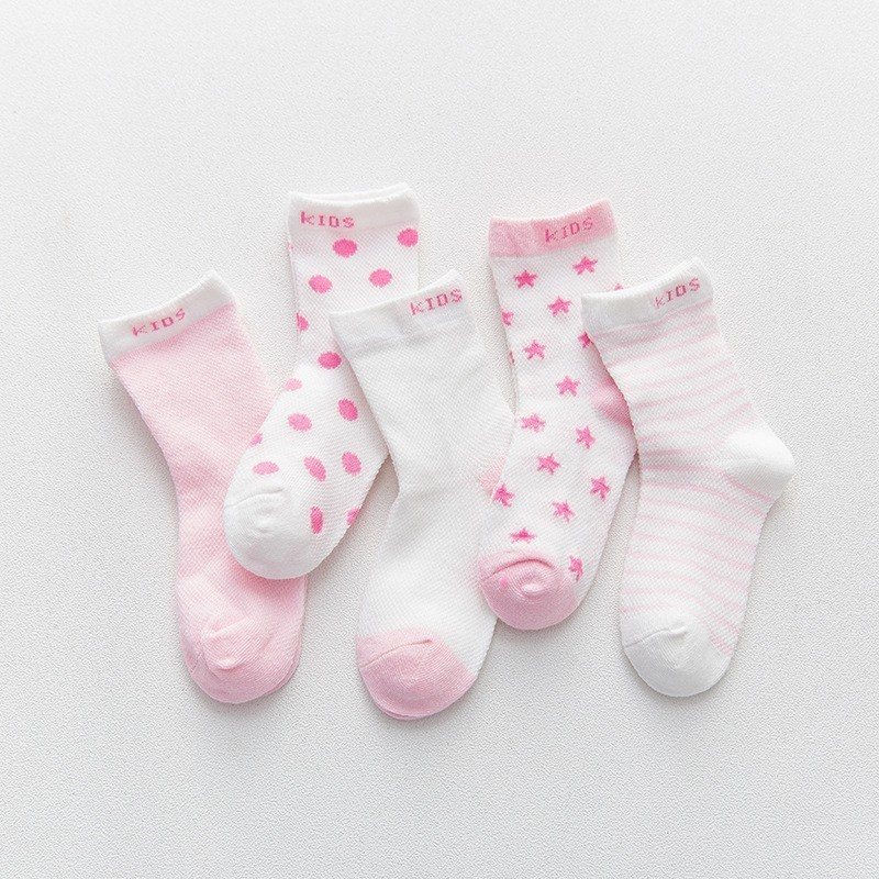 MAYA STEPAN 1 Pair Cotton Summer Baby Socks Girls Kids Children Boys Kids Newborn Star Dot Striped