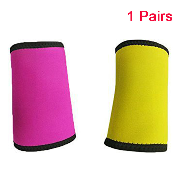 1 Pair Fitness Body Shaper Pad Running Arm Sleeve Wrap Sweat Belt Weight Loss Slimming Warmers Breathable Protective Sports 5