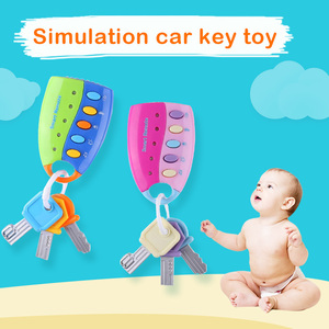 Image 1 - תינוק מוסיקלי רכב מפתח צעצוע ווקאלי חכם מרחוק רכב קולות מוסיקלי רכב מפתח צבעוני פלאש נשמע להעמיד פנים לשחק חינוך צעצוע עבור קי
