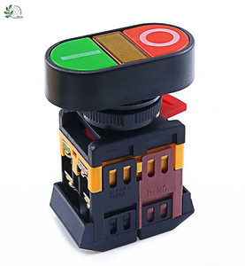 22mm 24V 36V 48V 110V 220V 380V ON/OFF START STOP 1 NO NC APBB-22N Momentary Push Button Switch With LED yellow Lamp
