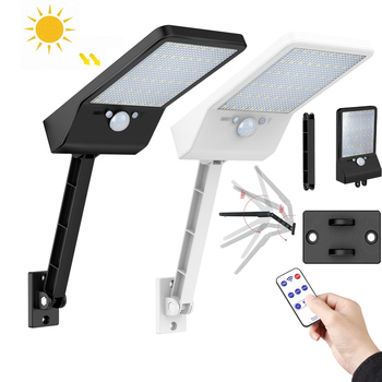 Newest 48LED 500LM Motion solar sensor wall light PIR Lamp Outdoor with remote control rotate bracket solar street light