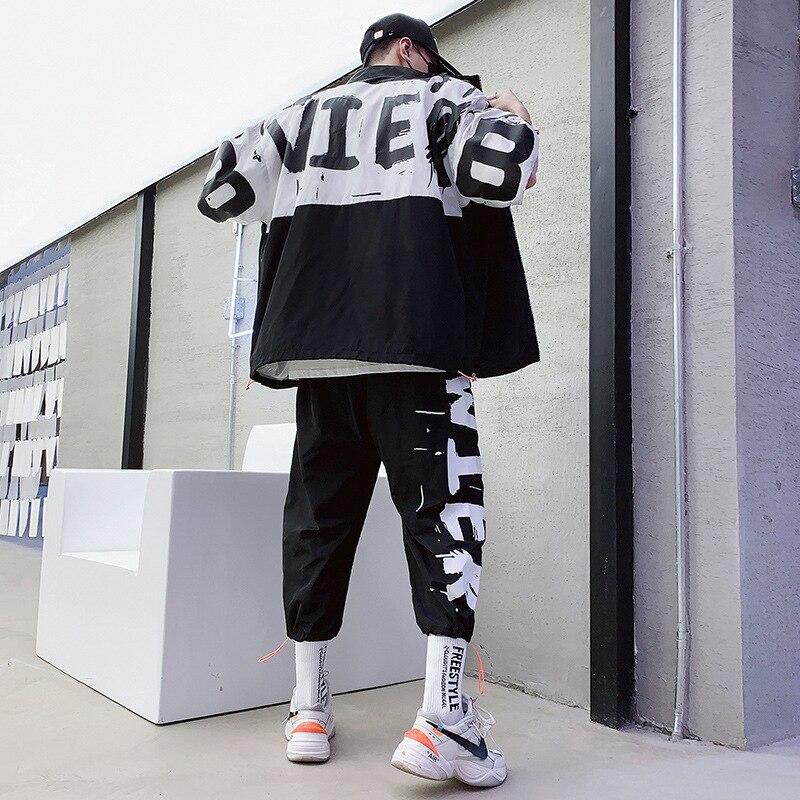 Men Track Suit Jacket Sweatsuit Mens Sports Suits Sportwear Men Jogger Set Printed Tracksuit mens set sweat suit letter print
