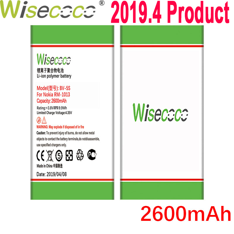 WISECOCO 2600mAh BV-5S <font><b>Battery</b></font> <font><b>For</b></font> <font><b>Nokia</b></font> <font><b>X2</b></font> X2D X2DS <font><b>RM</b></font>-<font><b>1013</b></font> Mobile Phone In Stock Latest Production <font><b>Battery</b></font>+Tracking Number image