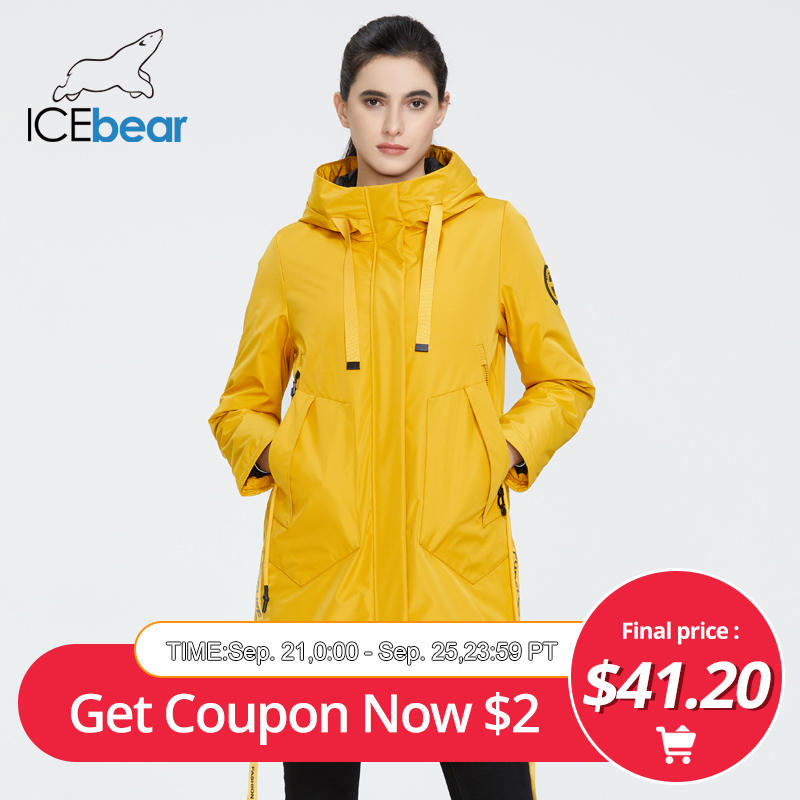 ICEbear 2020 new Autumn and winter women's coat with a hood casual wear quality fashion winter parka brand clothing(China)