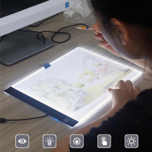 Digital Tablets A4 LED Graphic Artist Thin Art Stencil Drawing Board Light Box Tracing Table Pad Three-level For Copy