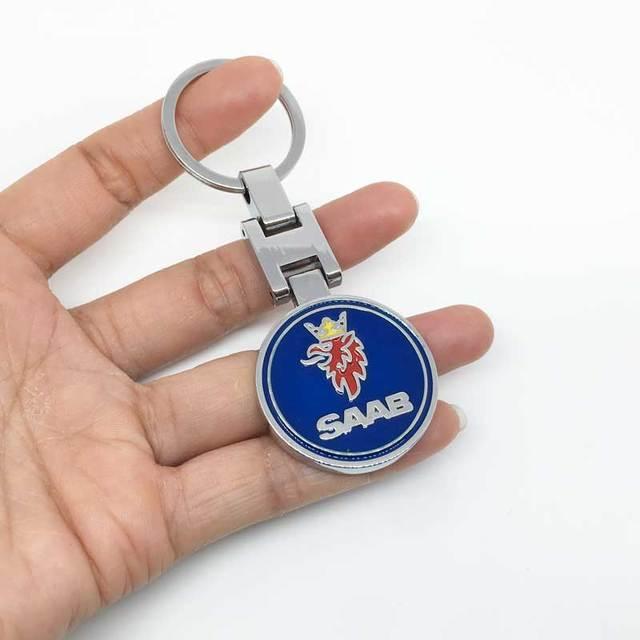 3D Metal Car Key Ring Keychain Key Holder Auto Keyrings For Saab 93 95 Saab 9-3 9-5 900 9000 car styling