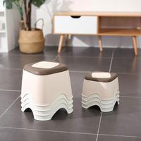 Пластиковый утолщенный табурет  домашний журнальный столик  сменная скамейка для обуви  ванная комната  Детская Нескользящая маленькая ска...