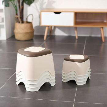 Plastic Thicken Stool Household Coffee Table Change Shoe Bench Bathroom Child Non-slip Small Bench Square Stool Low Stool