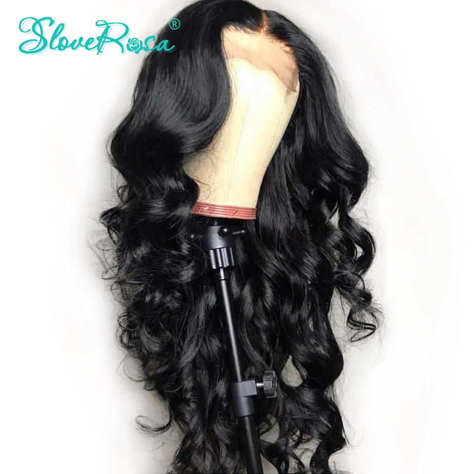 Image 2 - 130% Density Lace Front Human Hair Wigs 13x4 Loose Wave Wigs Peruvian Remy Hair Pre Plucked Bleached Knots For Woman Slove Rosa-in Human Hair Lace Wigs from Hair Extensions & Wigs