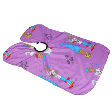 Home Barber Children Hairdressing Apron Hair Cutting Dyeing Gown Cape Cartoon Pattern Waterproof Anti-Static Hairdressing Cloth цена и фото