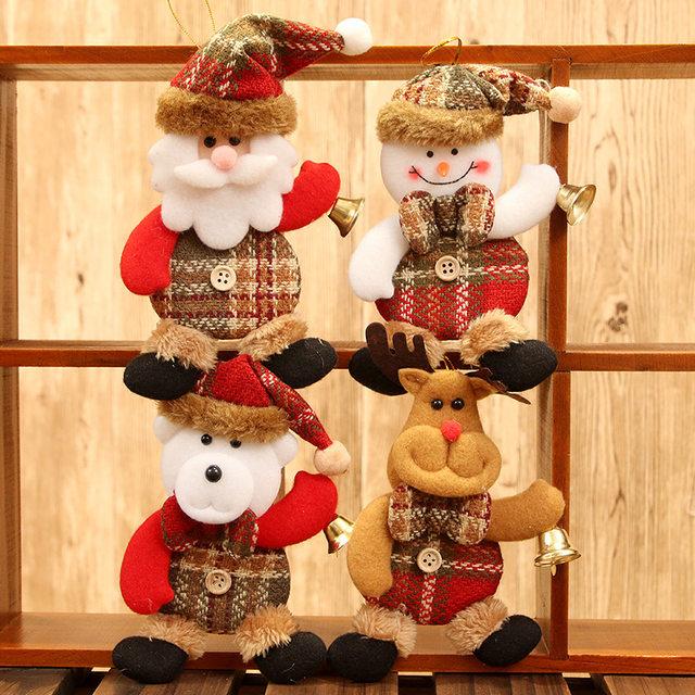 New Year 2020 Cute Santa Claus/Snowman/Angel Christmas Dolls Noel Christmas Tree Decoration for Home Xmas Navidad 2019 Kids Gift 22