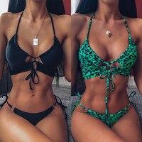 2020 High Quality Women's Underwear Push Up High Cut V Neck Lengerie Wire Free Underwear Set Brazillian Solid Female Intimates