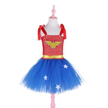 Kids Wonder Woman Halloween Kostuum Meisje Superman Fancy Dress Super Kinderen Party Cosplay Kostuums Superhero Kostuums Voor Meisjes(China)