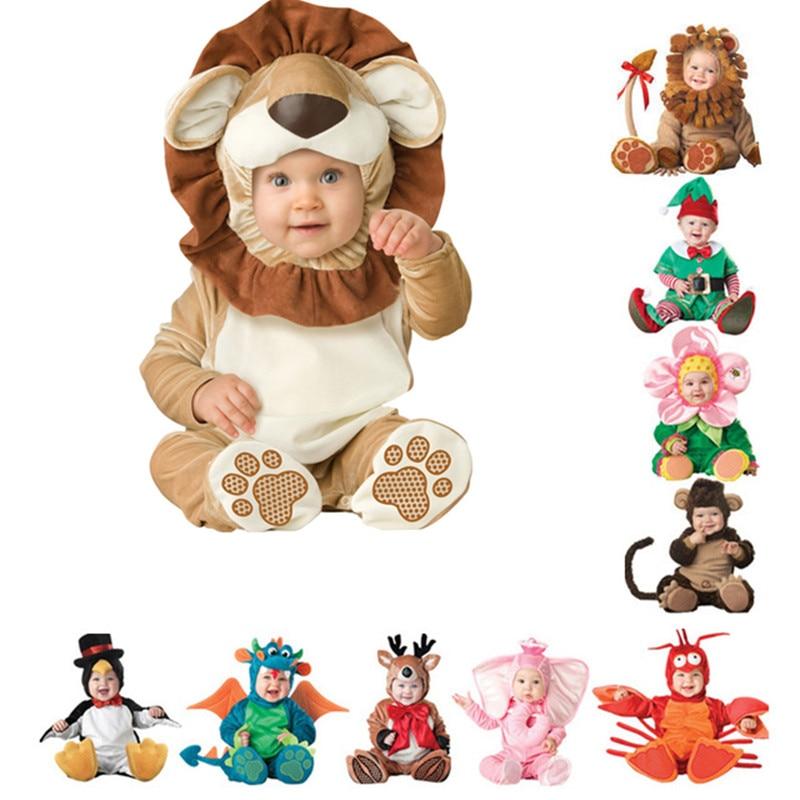 Детский комбинезон для новорожденных, одежда для малышей с изображением пирата, динозавра, пингвина, Санта-Клауса, карнавальный костюм на Р...