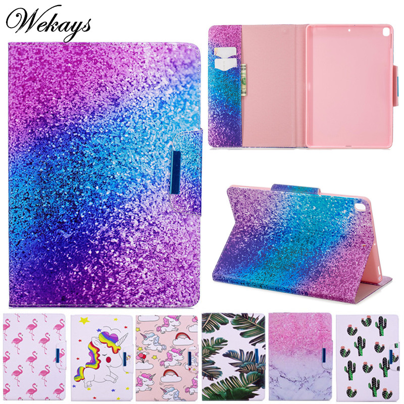 Wekays Cover For iPad 10 2 2019 Cartoon Unicorn Leather Case For iPad 10 2 7th