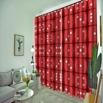red curtains Luxury Blackout 3D Window Curtains For Living Room Bedroom Customized size personality curtains