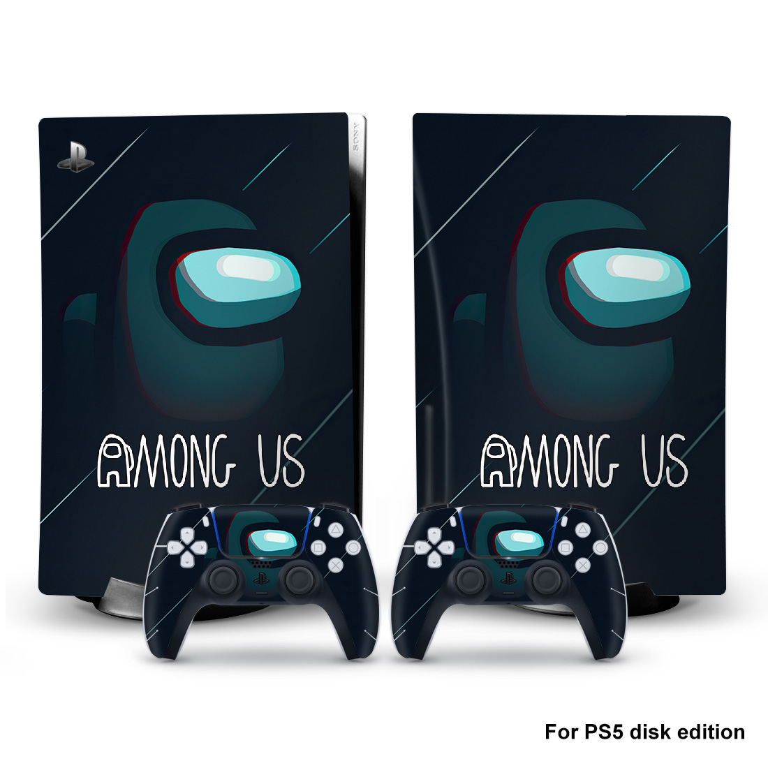 Mong Us PS5 Standard Disc Edition Skin Sticker Decal Cover for PlayStation 5 Console & Controller PS5 Skin Sticker Vinyl