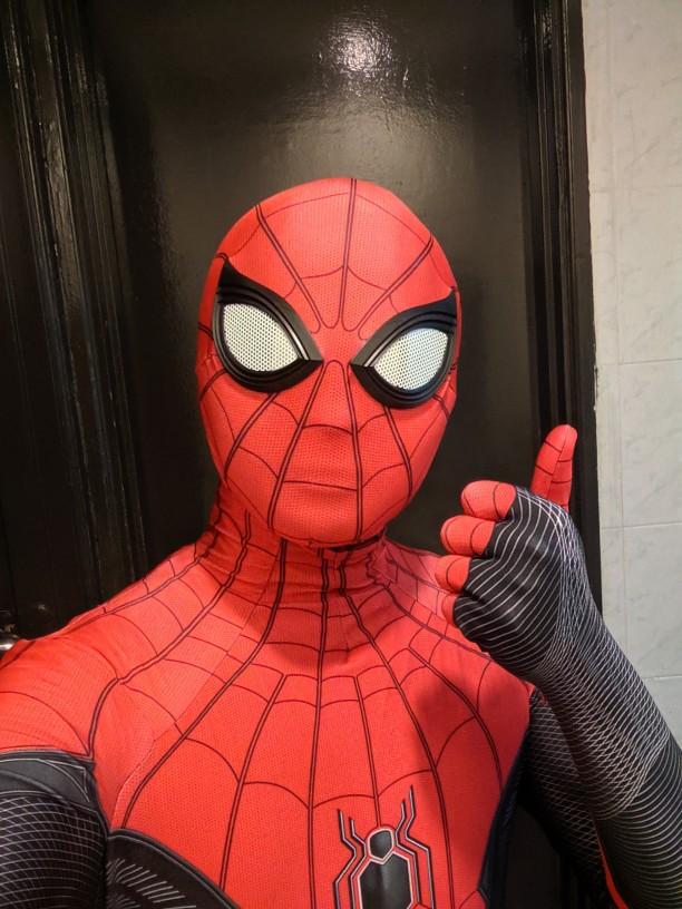 Movie Spider-Man Far From Home Costume Halloween Cosplay Superhero Jumpsuit Spiderman Fancy Spiderman Costume Bodysuit