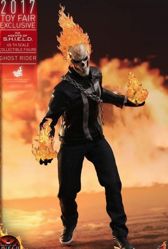 Hot Toys Marvel Ghost Rider Johnny Blaze Joints Moveable PVC Action Collectible Figure Toys
