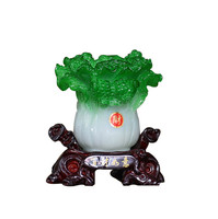 Chinese Style Creative Makeup Brush Holder Pen Pencil Brightly Stationery Desk Chinese Cabbage Ornament for gift