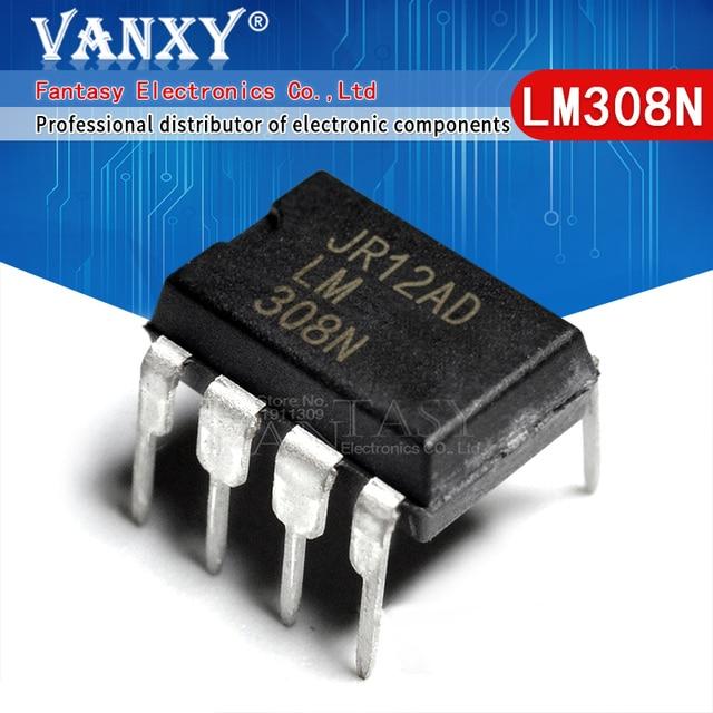 """100PCS LM308N DIP8 LM308 מח""""ש 308N מח""""ש 8"""