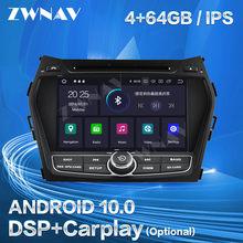 Carplay dla Hyundai IX45 Sante Fe 2013 2014 2015 2016 2017 2018 z systemem Android 10 odtwarzacz GPS Auto Audio wieża Stereo rejestrator jednostka główna