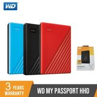 WD My Passport External Hard Drive Disk USB3.0 1TB 2TB 4TB Portable Western Digital HDD HD Storage Devices SATA3 For Windows Mac