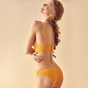 Image 3 - TERMEZY High Quality Cotton Underwear Set Sexy Lace Lingerie Romantic Temptation Bra Set Women Stripes Bra and Panties Set
