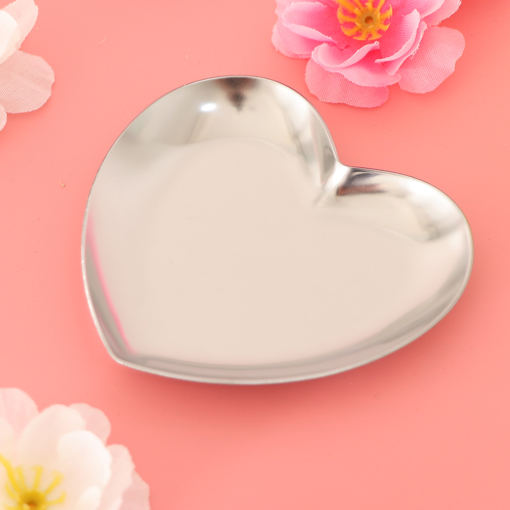 Heart Shaped Metal Storage Tray Jewelry Organizer Trays Ring Necklace Accessories Tray Jewelry Plate